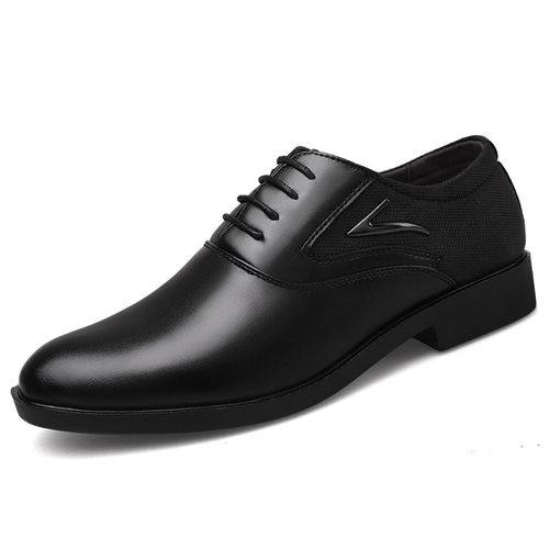 Men's Casual PU Leather Shoes Business Dress Shoes-black