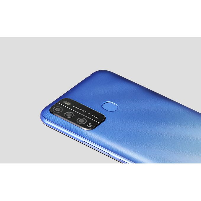 "product_image_name-Itel-S16 6.5"" HD FullScreen, 16GB ROM + 1GB RAM, Android 10, 4000mAh, 8MP Triple Rear Camera, Face ID & Fingerprint - Blue-4"