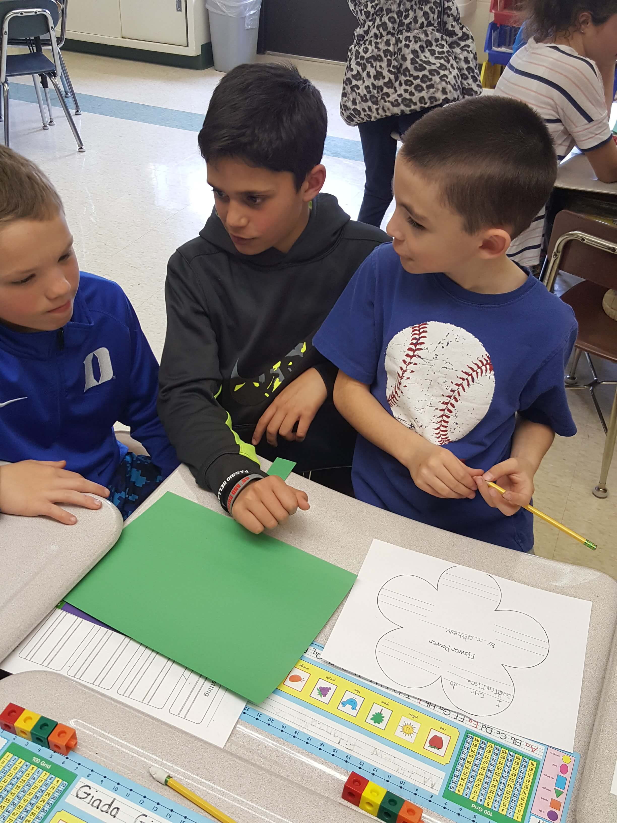 First Grade Fifth Grade Buddy Activity