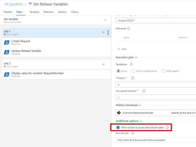 Azure DevOps Pipelines – Set Release Variables Using Release REST
