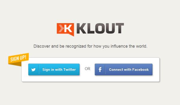 Tracking tài khoản với Klout