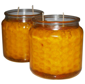 honeycomb candle