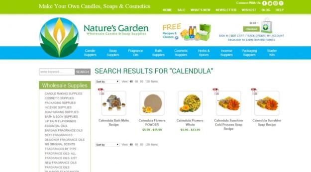 calendula products
