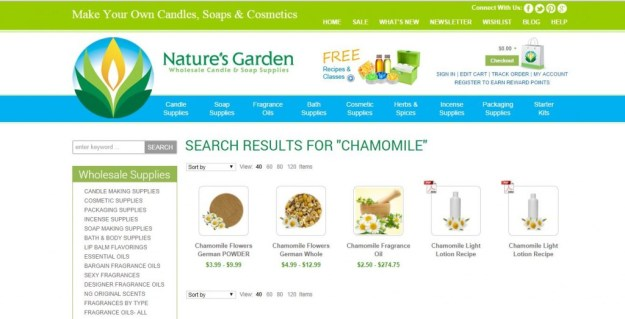 chamomile results page