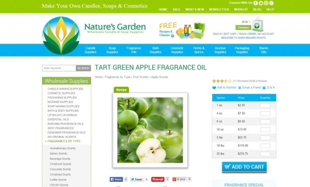 tart green apple page