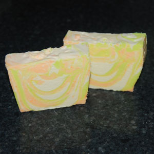 making tiger swirl soap