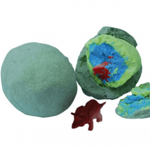 30 Free Bath Bomb Recipes: Hatching Dinosaur Egg Bath Bombs Recipe