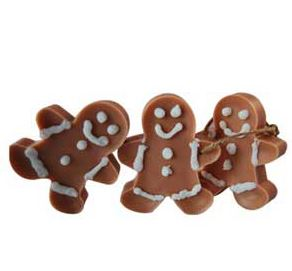 Candle Ideas for Christmas: Gingerbread Men Wax Ornaments Recipe