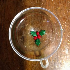 Holly Berry Bath Bombs Recipe: Adding the Holly Berries to the Molds