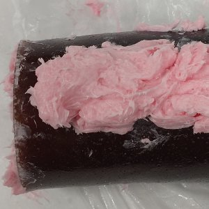 Chocolate Raspberry Drizzle Rolled MP Soap Recipe: Adding Whipped Topping