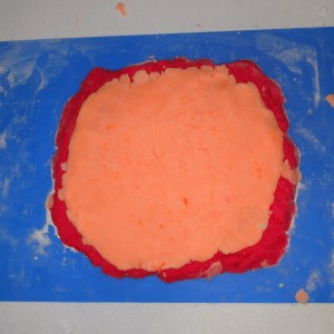 Rainbow Bubble Bar Recipe: Laying Down the Orange Layer