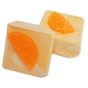 Coconut Soap Recipes: Orange Swirled Cold Process Soap Recipe