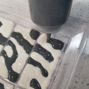 Zebra CP Soap Recipe: Filling Up the Soap Mold