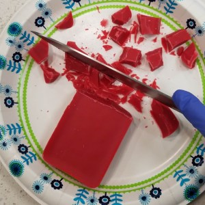 Snap Bar Wax Tarts Recipe: Cutting the Red Candle Wax