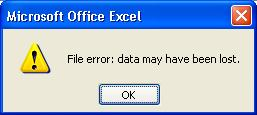 File error: data may have been lost.