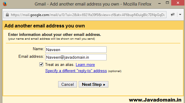 Adding Custom Email