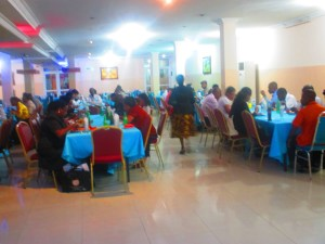 Delegates at Lunch