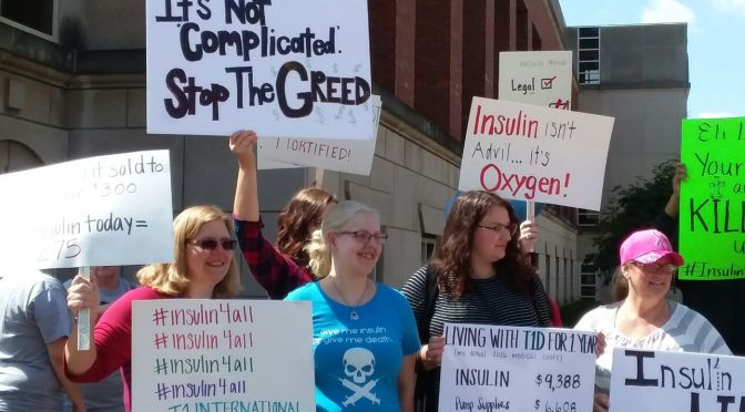 Diabetes Advocates Protest Against High Insulin Prices