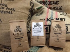 For the coffee lover. Fair trade, hand roasted coffee. Buy the bag and have it ground or give the whole bean. We also think someone should buy these and coat them with Chapel Cove Chocolate!