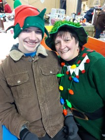 Our elves, Christopher and Rhonda!