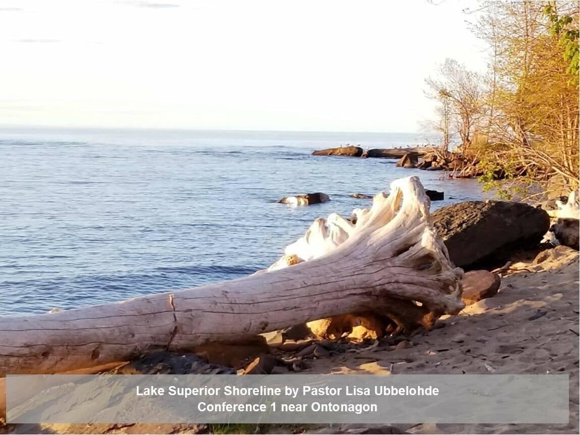 Lake Superior Shoreline by Pastor Lisa Ubbelohde