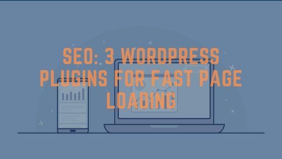 3 Wordpress Plugins for faster loading