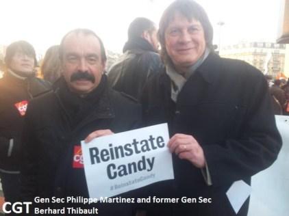 CGT Gen Sec Philippe martinez and former GS Bernard Thibault