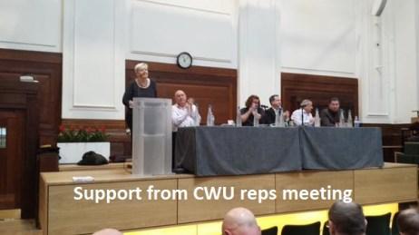 CWU reps meeting