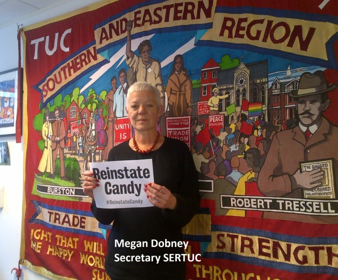 Megan Dobney SERTUC supports Candy