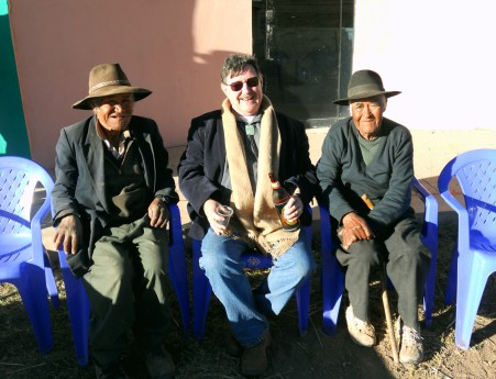 Bolton with friends in Chinayo, Peru