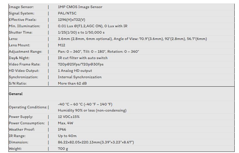 CAMERA TVI HIKVISION 1.0MP DS-2CE16C0T-IT3