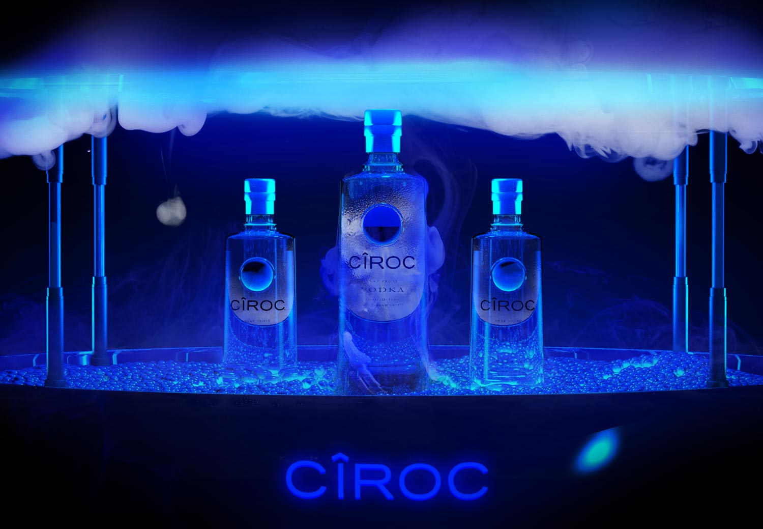 Bespoke product design, 3D, ciroc, diageo