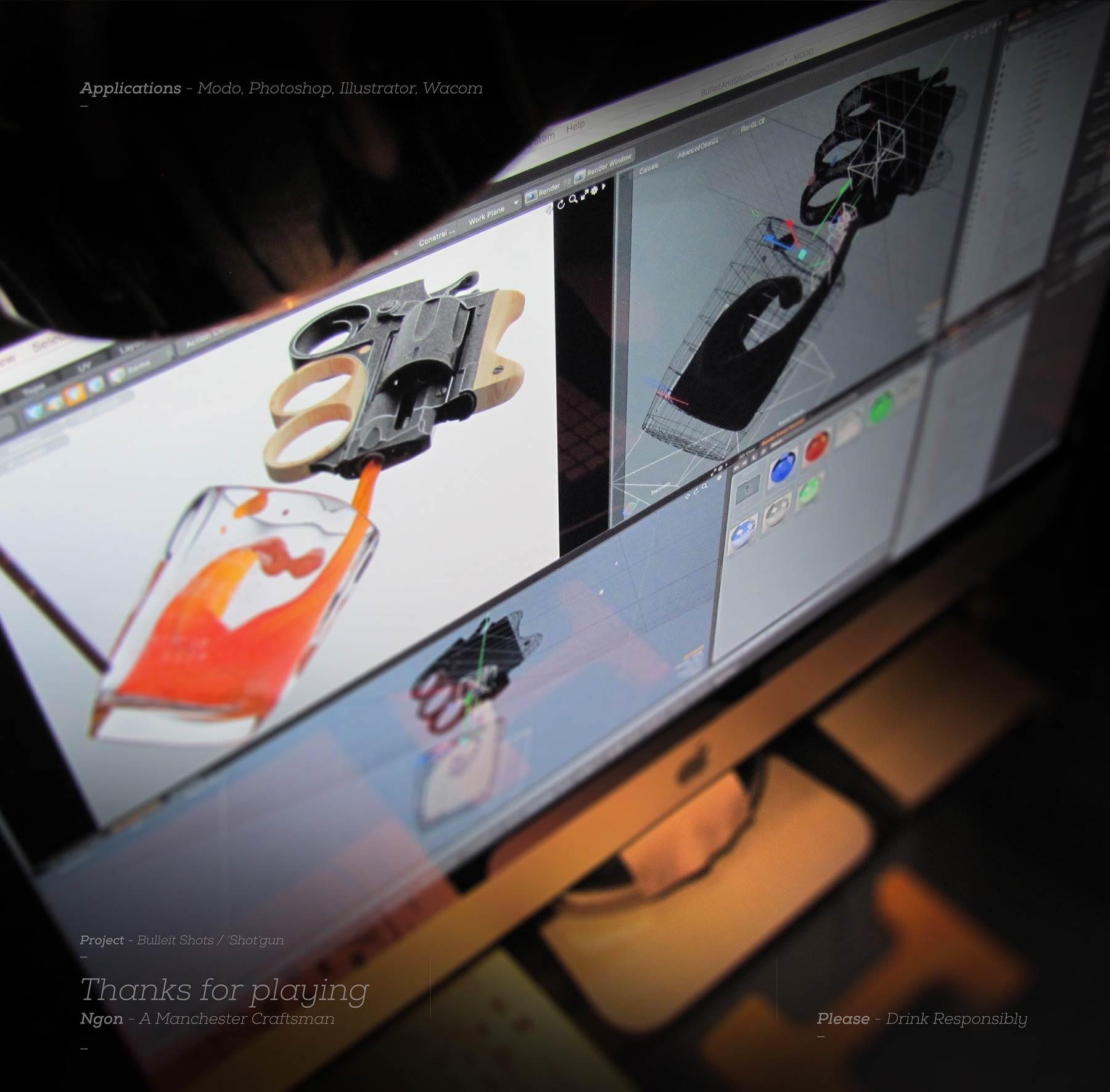 Bulliet Whiskey, Manchester agency, 3d design, Jodie Rudge, Ngon, cgi, bespoke branding, Manchester 3D Artist Visualisation