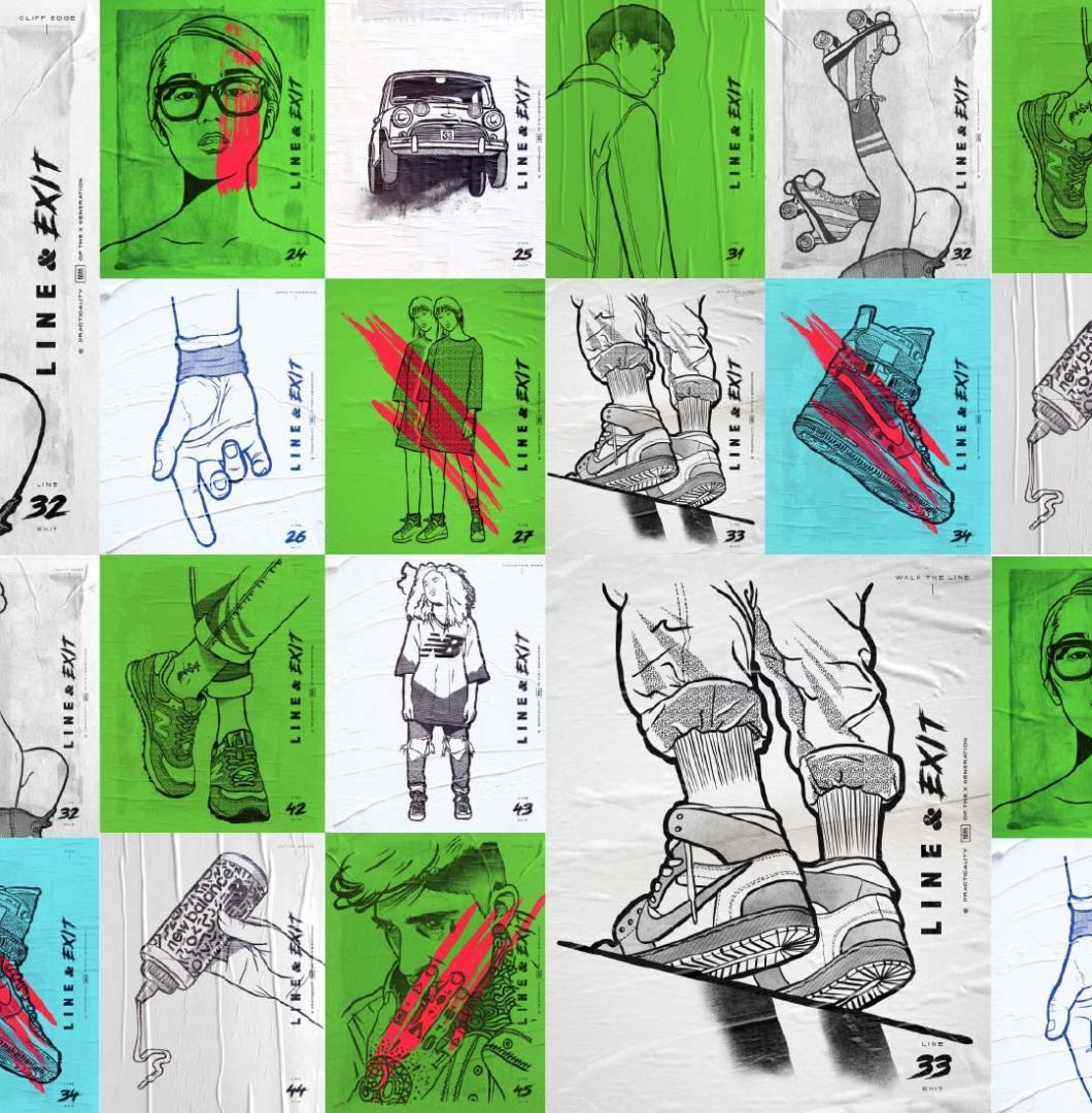 nike, new balance, illustration, ngon, manchester agency, 3D design