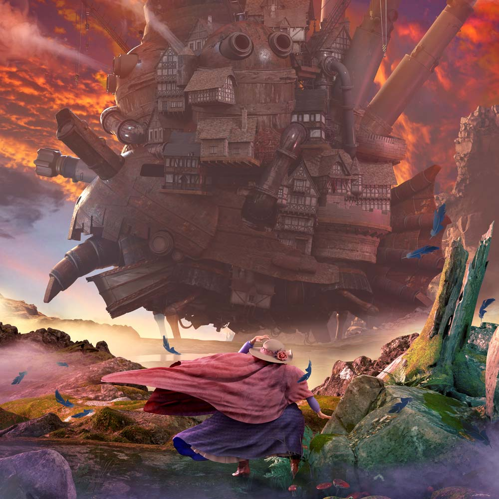studio ghibli, howls moving castle, Ngon, Manchester Agency, 3d artist