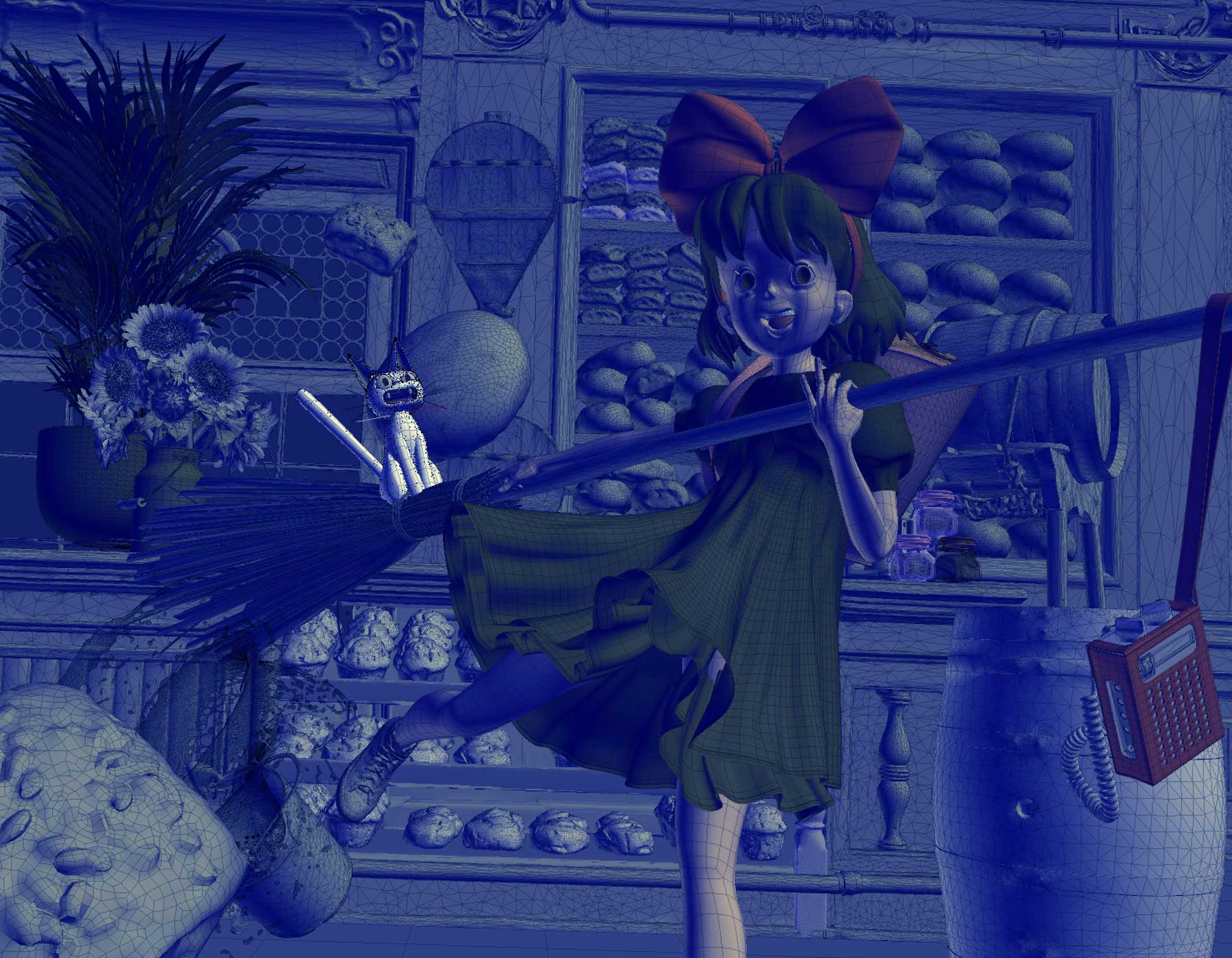 studio ghibli, kikis delivery service, Johnnie Walker, Ngon, Manchester Agency, 3d artist