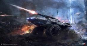 Mass Effect 3 – Mako Lithograph by AlexF