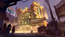Bioshock Infinite: Finkton Theatre Exterior by Benlo