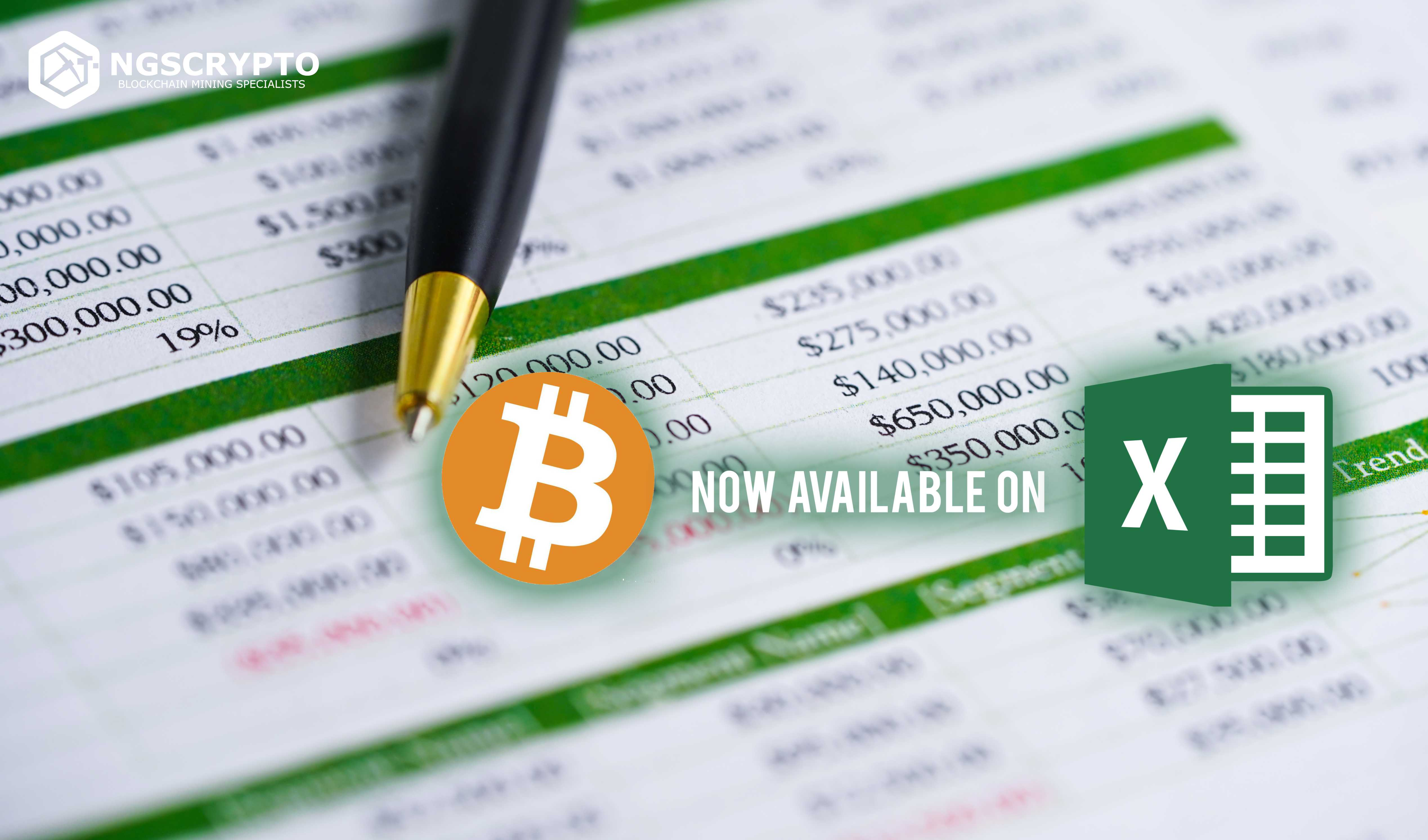 BITCOIN (BTC) ADDED TO MICROSOFT EXCEL AS A CURRENCY OPTION
