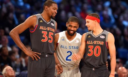 The NBA All-Star Game featuring Kevin Durant, Kyrie Irving, Steph Curry, etc.