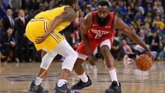 Rockets star man Harden takes on Iguodala