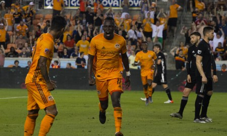 Elis and the Dynamo celebrate the score