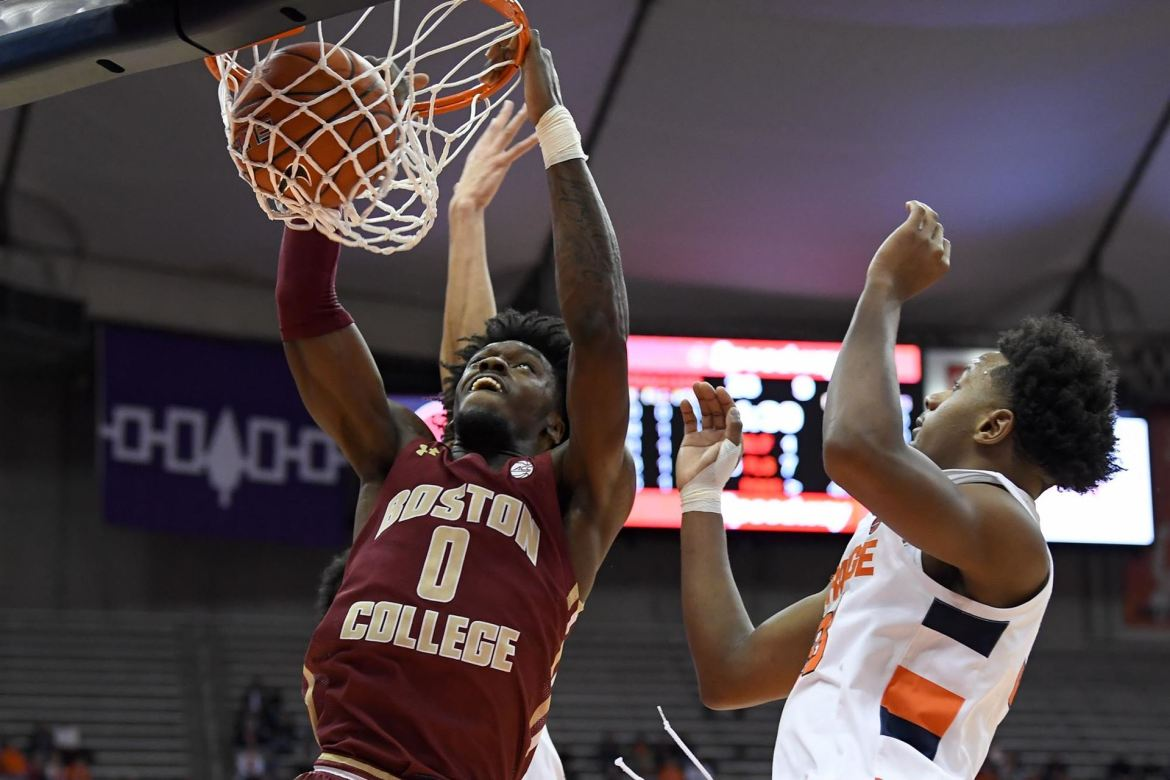 Eagles Struggle Offensively and Fall at Syracuse, 76-50