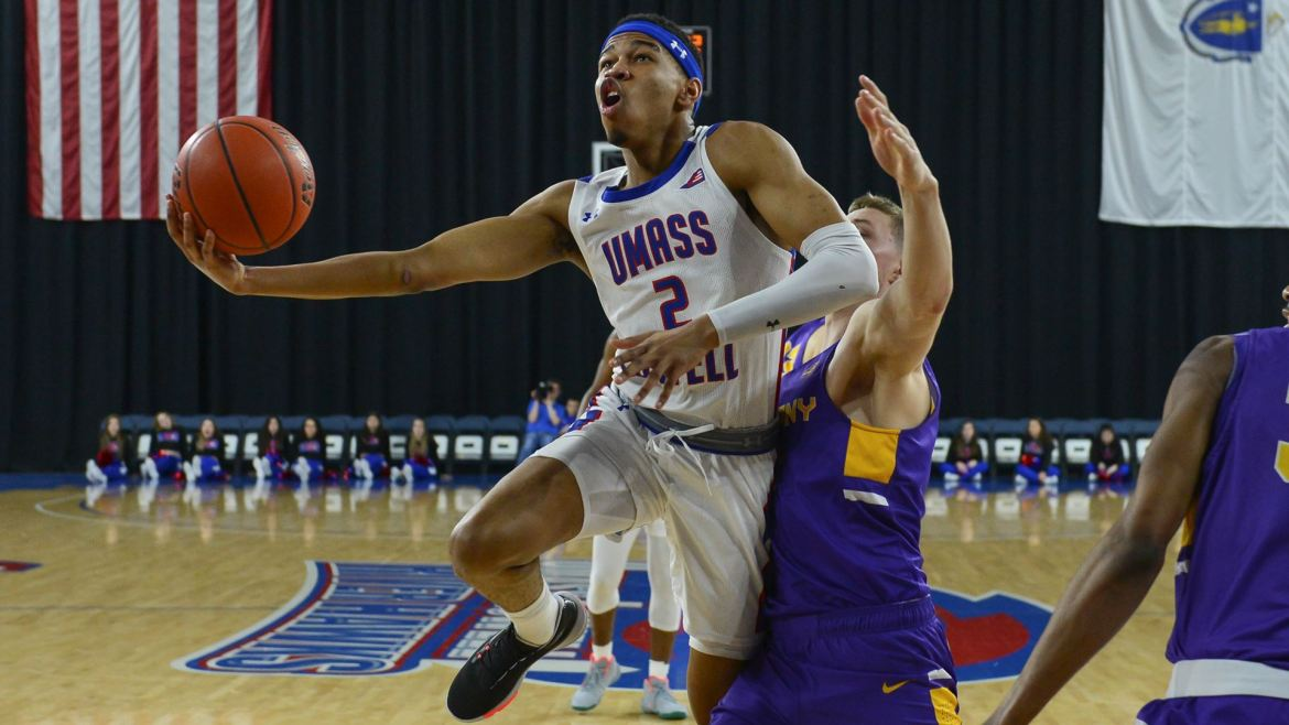 Five River Hawks score in double-figures to beat Albany 88-69