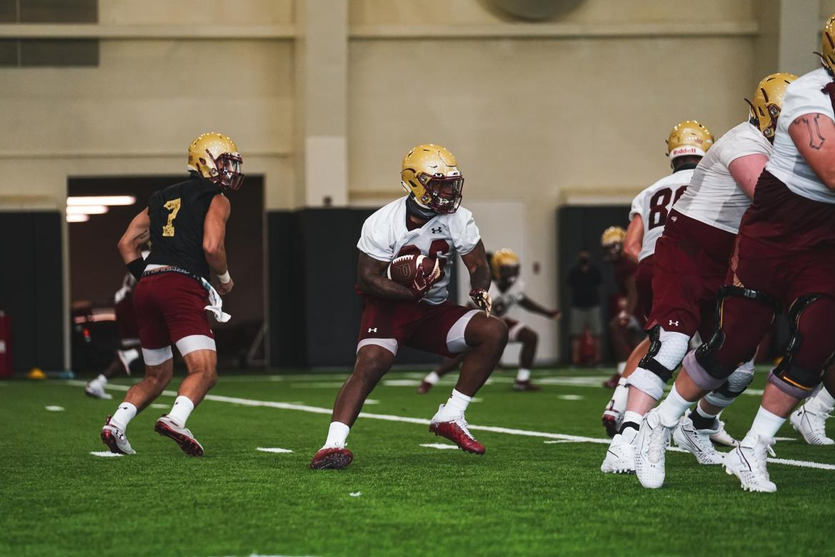 BC Football Preseason Blog #3. Shoulder pads came on for the first time