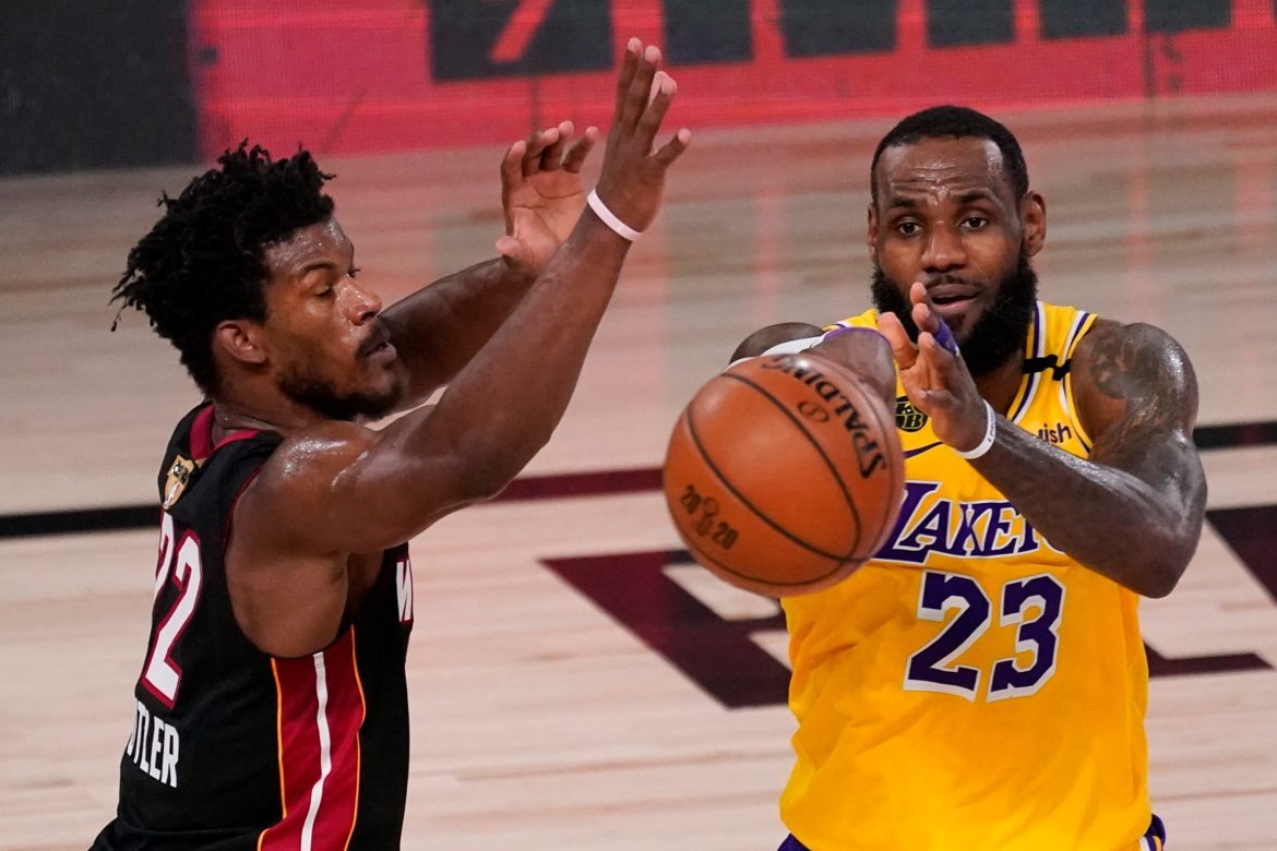 Lebron Leads Lakers to a Commanding 3-1 lead with 102-96 win over Heat