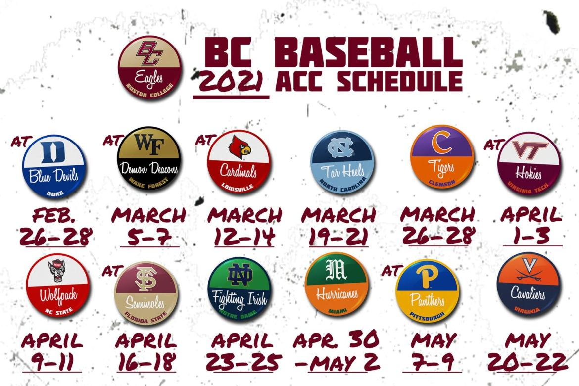 2021 ACC Schedule Set for BC Baseball. Non-Conference Slate TBD