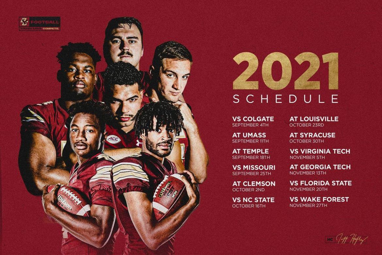 Boston College Announces 2021 Football Schedule