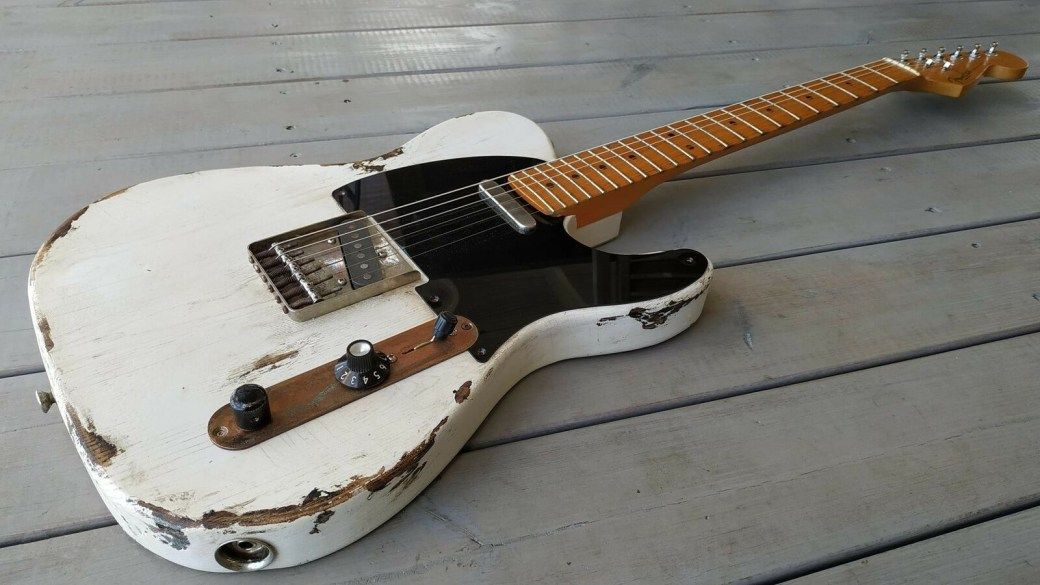 White tele NGS Guitars Build 001