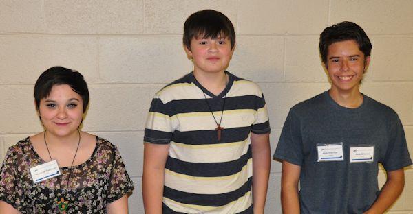 (l-r) Kayleigh Fuhrman, Jordan Clark, Andy Peterson